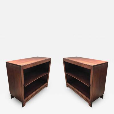 Paul Frankl Pair of Paul Frankl Petite Mahogany Bookcases for Johnson Furniture Co