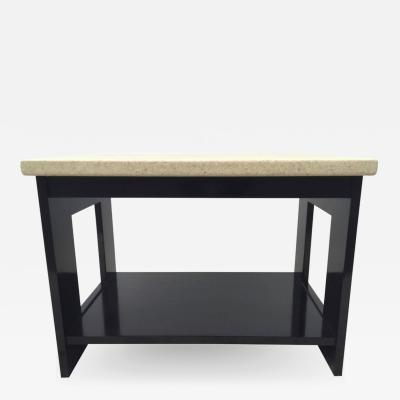 Paul Frankl Paul Frankl Lacquered Cork Top Dark Mahogany Table
