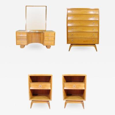 Paul Frankl Paul Frankl Rare Four Piece Bedroom Set for Brown Saltman