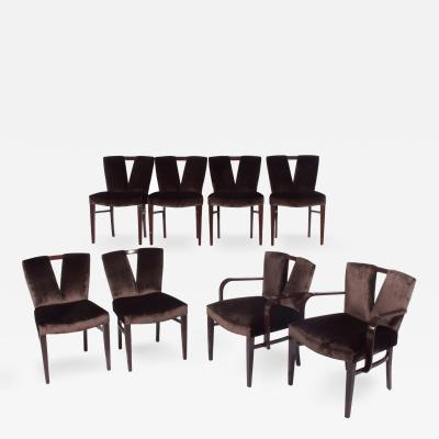 Paul Frankl Poul Frankl Set of 8 Dinning Chairs