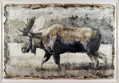 Paul Garbett Walking moose