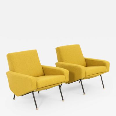 Paul Geoffroy Pair of Troika Armchairs by Paul Geoffroy for Airborne France 1958
