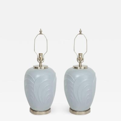 Paul Hanson Paul Hanson Periwinkle Glazed Porcelain Lamps