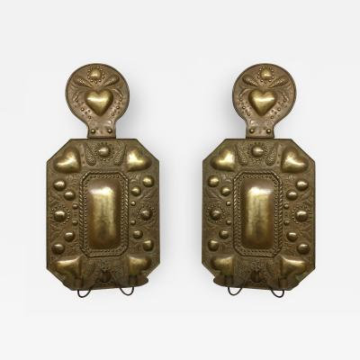 Paul Huwald A Pair of Brass Sconces