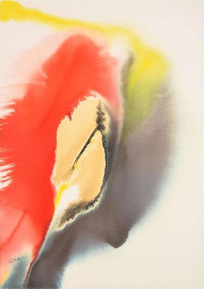 Paul Jenkins Large Paul Jenkins Watercolor Painting Original Work
