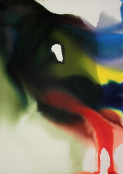 Paul Jenkins Paul Jenkins Phenomena Bordering Orion Watercolor on Paper 1981