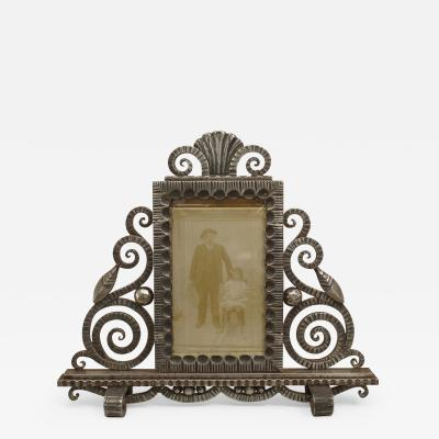 Paul Kiss French Art Deco Wrought Iron Easel Picture Frame