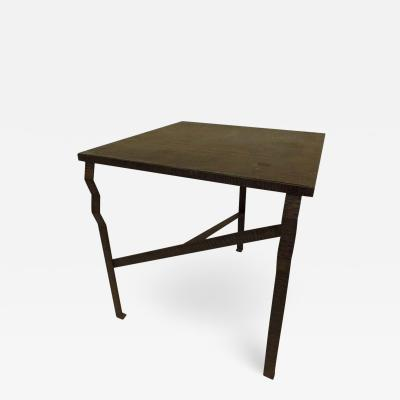 Paul Kiss French Early Modern Hand Hammered Copper Console Center Table Attr Paul Kiss