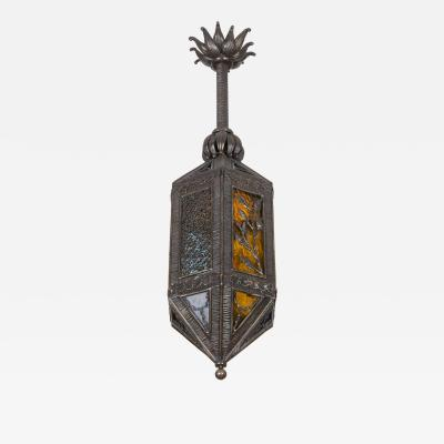 Paul Kiss Kiss wrought iron lantern