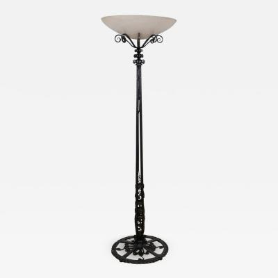 Paul Kiss Superb lamp floor made of wrought iron by Paul Kiss 1920s