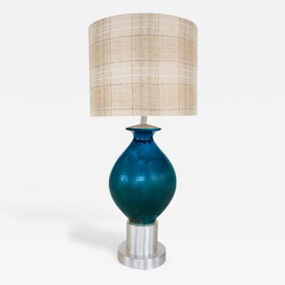Paul L szl Custom Blue Glazed Table Lamp by Paul Laszlo