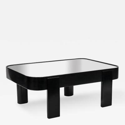 Paul L szl Ebonized Coffee Table with Mirror Top by Paul Laszlo