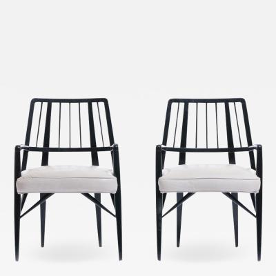 Paul L szl PAIR OF PAUL LASZLO CHAIRS FROM THE BRENTWOOD COUNTRY CLUB CIRCA 1954