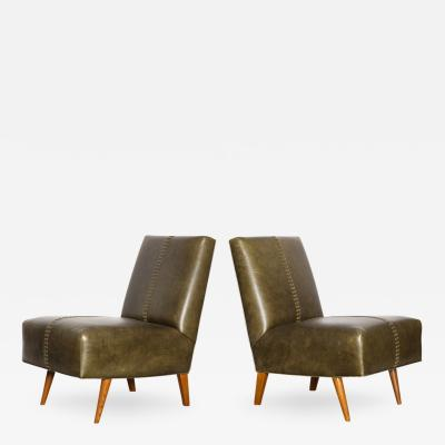 Paul L szl Pair of Armless Lounge Chairs by Paul Laszlo