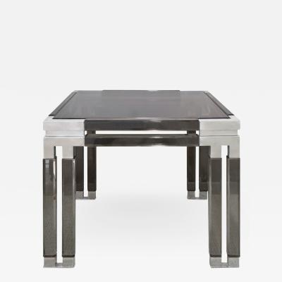 Paul L szl Paul Laszlo Chic Side Table in Smoke Lucite and Chrome 1983