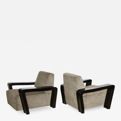 Paul L szl Rare Pair of Club Chairs by Paul Laszlo