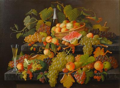 Paul LaCroix Natures Bounty with Fruit and Wine