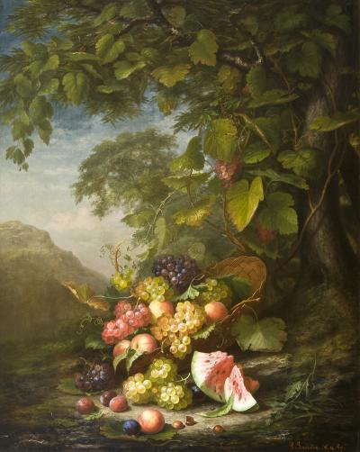Paul LaCroix Still Life in a Landscape