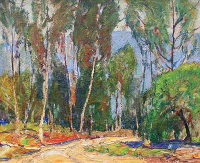 Paul Lauritz Southern California Landscape with Eucalyptus Trees
