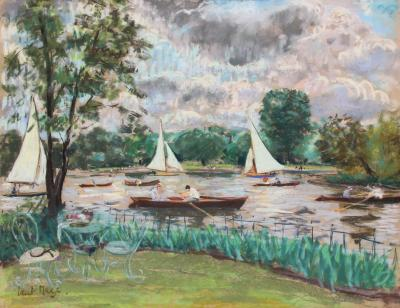 Paul Lucien Maze Boating on the Thames Summer