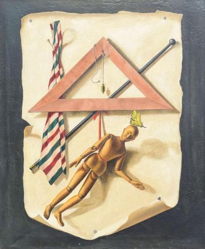 Paul Magnenat Tromp LOeil Painting by Paul Magnenat