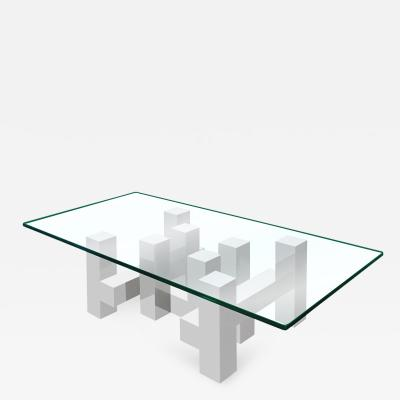 Paul Mayan Large Architectural Coffee Table by Paul Mayan for Habitat
