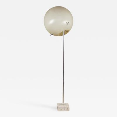 Paul Mayen Paul Mayen Globe Chrome Floor Lamp with Travertine Base