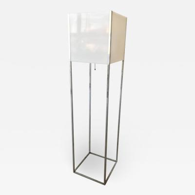 Paul Mayen Paul Mayen Lucite and Chrome Floor Lamp for Habitat