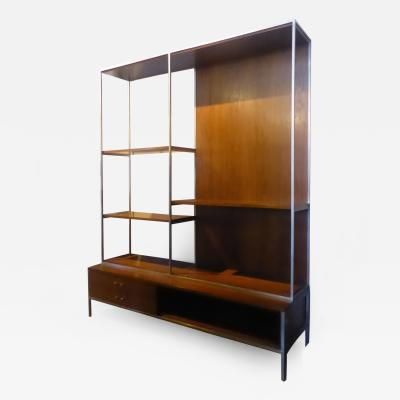 Paul McCobb 1950s Paul McCobb for Calvin Walnut Shelving Room Divider