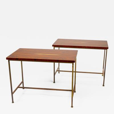 Paul McCobb Book matched Rosewood Side Tables by Paul McCobb for Calvin