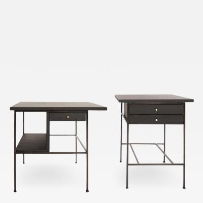 Paul McCobb Complimenting Set of Bronze End Tables by Paul McCobb