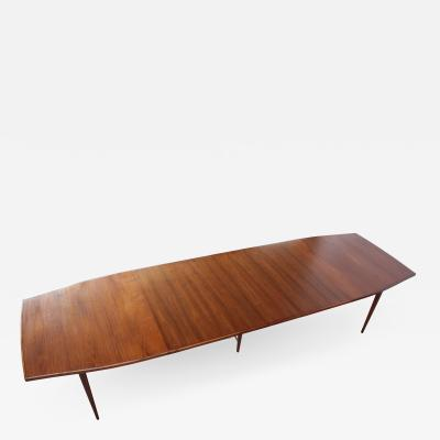 Paul McCobb Large Three Leaf Walnut Dining Table by Paul McCobb for Directional