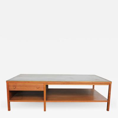 Paul McCobb Leather Top Coffee Table by Paul McCobb for Calvin Group