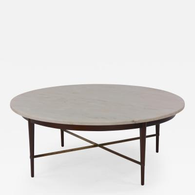 Paul McCobb Marble and Brass Coffee Table by Paul McCobb