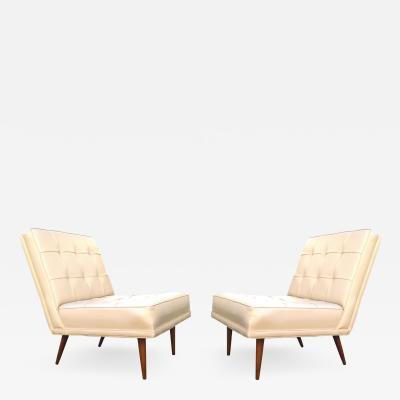 Paul McCobb Mid Century Modern Lounge Side Slipper Chairs Manner Of Paul McCobb