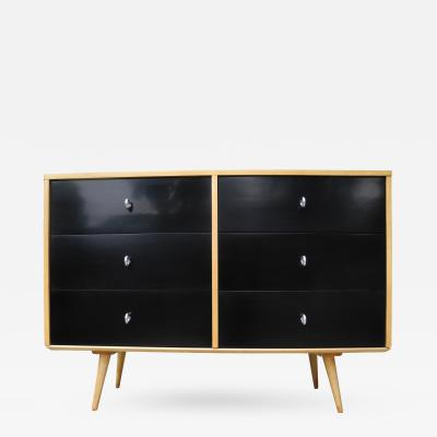 Paul McCobb Mid Century Modern Six Drawer Maple Dresser Designed by Paul McCobb