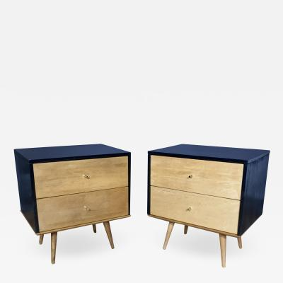 Paul McCobb Pair Paul McCobb Maple Nightstands Planner Group 1950s