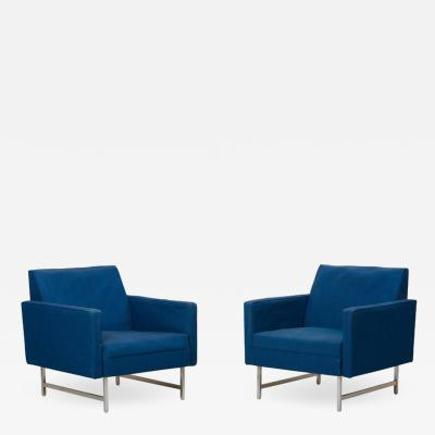 Paul McCobb Pair of Lounge Chairs by Paul McCobb for Directional upholstery needed