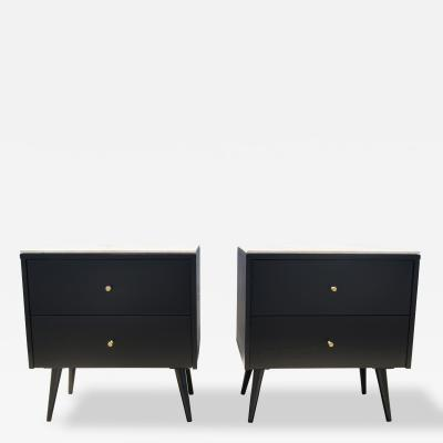 Paul McCobb Pair of Marble Topped Planner Group Nightstands by Paul McCobb for Winchendon