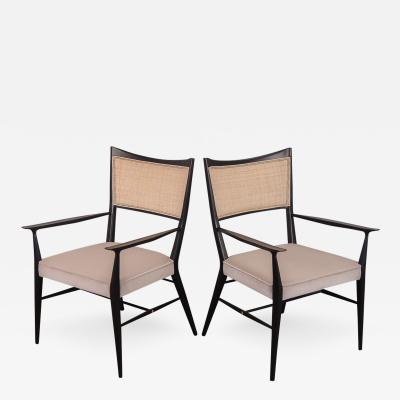 Paul McCobb Pair of Paul McCobb Ebonized Occasional Chairs