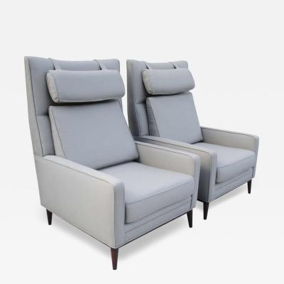 Paul McCobb Pair of Paul McCobb Oversized Architectural Armchairs