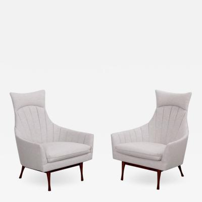 Paul McCobb Pair of Paul McCobb Symmetric Group Lounge Chairs by Widdicomb