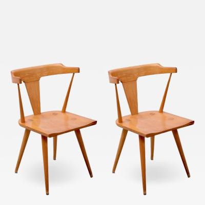 Paul McCobb Pair of Planner Group T Back Chairs by Paul McCobb for Winchendon