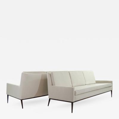Paul McCobb Pair of Sofas in Linen by Paul McCobb Model 1307