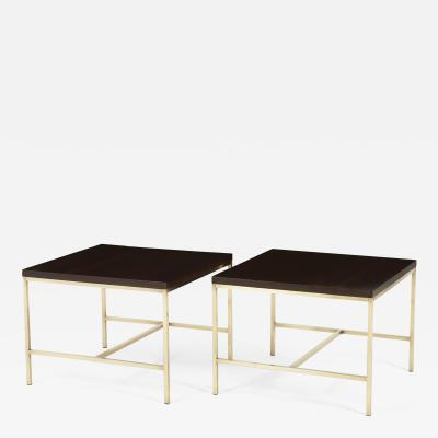 Paul McCobb Paul McCobb Brass Frame Pair of Side Tables Calvin Furniture 1950s