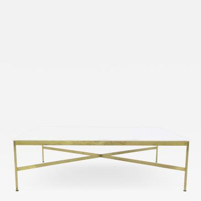 Paul McCobb Paul McCobb Brass and Vitrolite Coffee Table