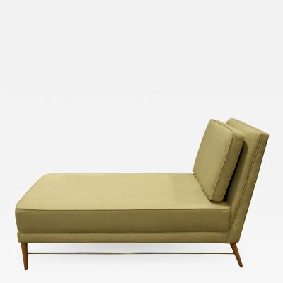Paul McCobb Paul McCobb Chaise with Mahogany Legs and Brass Stretchers 1950s