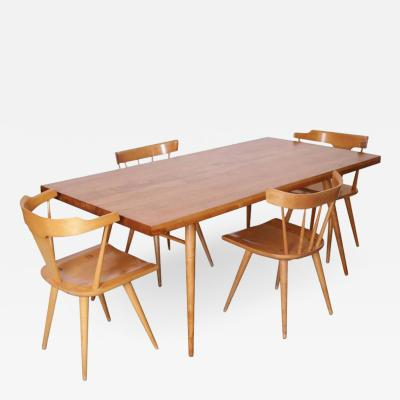 Paul McCobb Paul McCobb Dining Set Four Chairs and Table Maple 1950s Winchendon