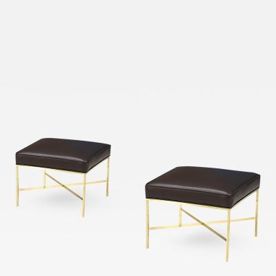 Paul McCobb Paul McCobb Irwin Collection X Base Brass Stools for Calvin Group