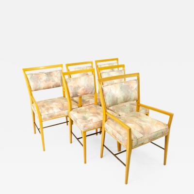 Paul McCobb Paul McCobb Mid Century Blonde Upholstered Dining Chairs Set of 6